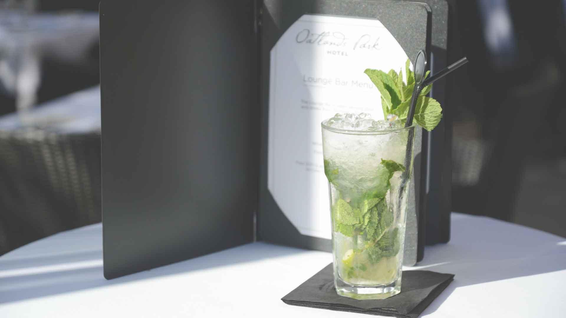 Mojito cocktail at Oatlands Park Hotel
