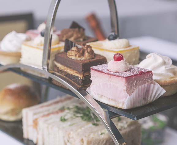 Afternoon Tea cakes and sandwiches