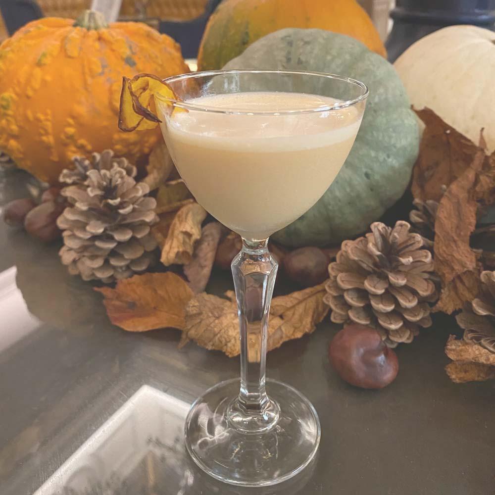 Halloween pumpkin cocktail
